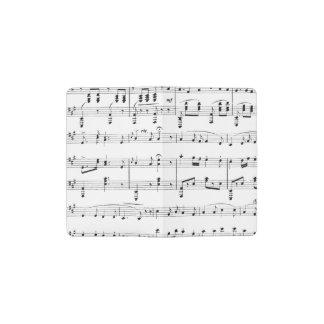 White Sheet Music Pocket Moleskine Notebook