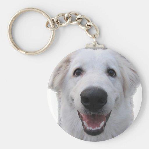 White Shep Clowny Key Chain
