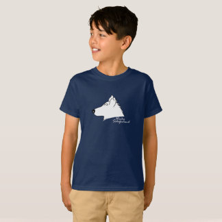 White shepherd dog head silhouette T-Shirt