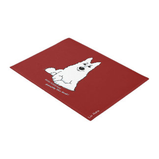 White shepherd dog - simply the best doormat