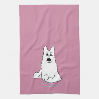 White shepherd dog - Simply the best! Towels