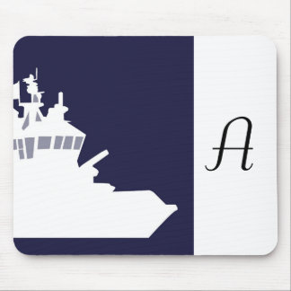 White ship. mouse pad