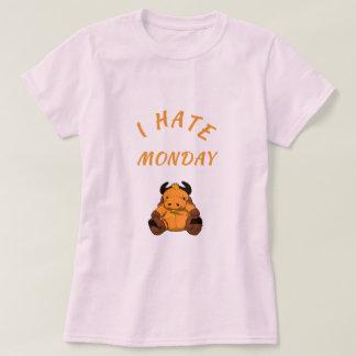 "white short-poor ladies T-shirt ""i hate monday """