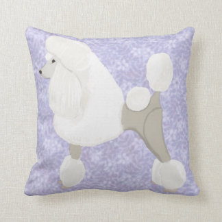 White Show Poodle Cushion