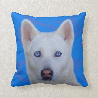 White Siberian Husky Cushion