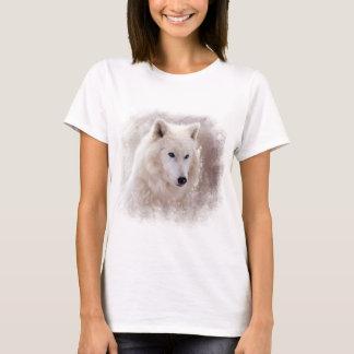 WHITE SIBERIAN HUSKY. T-Shirt