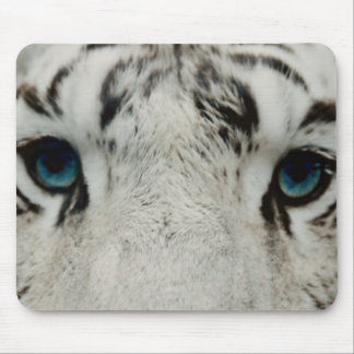 White Siberian Tiger Mouse Pad