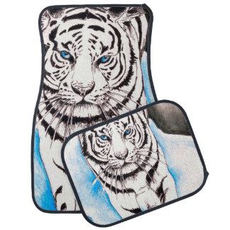 White Siberian Tiger Sow Car Mat