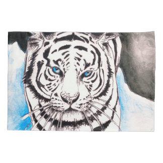 White Siberian Tiger Sow Pillowcase