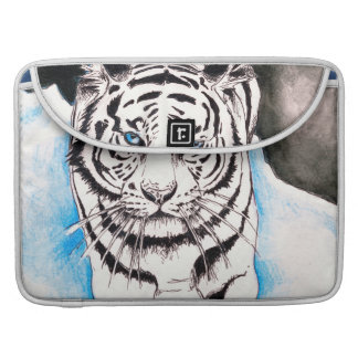 White Siberian Tiger Winter Sleeve For MacBook Pro