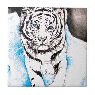 White Siberian Tiger Winter Tile