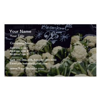 white Sign With Produce flowers Business Cards