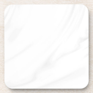 White silk elegant chic fabric by healing love drink coaster
