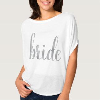 White & Silver bride shirt