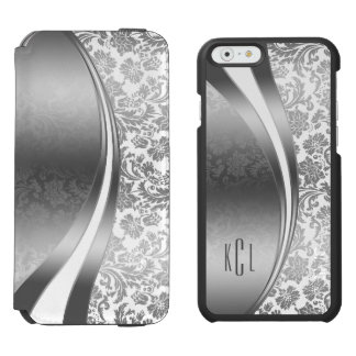 White & Silver Geometric And Damasks Pattern Incipio Watson™ iPhone 6 Wallet Case
