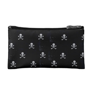 White Skull & Cross Bones Cosmetic Bag