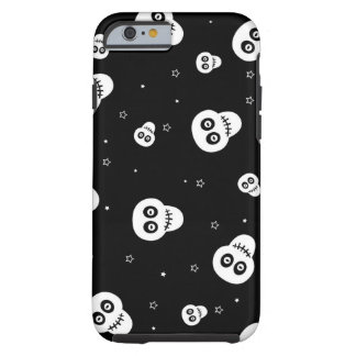 white skull head with stars tough iPhone 6 case