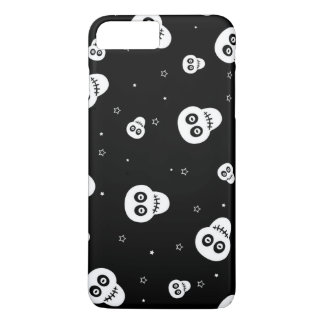 white skull head with stars iPhone 7 plus case