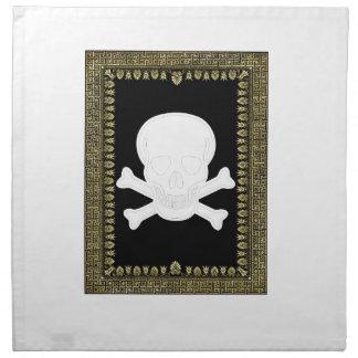 white skull image napkin