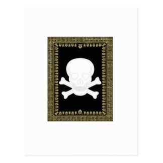 white skull image postcard