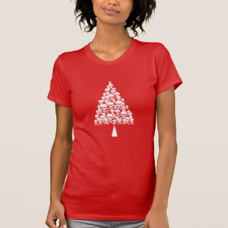 White Skully Xmas Tree T-Shirt