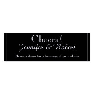 White Snow Bell Flowers Wedding Drink Tickets Business Card Template