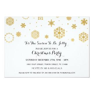 White Snow Christmas Party Xmas Holidays Invite