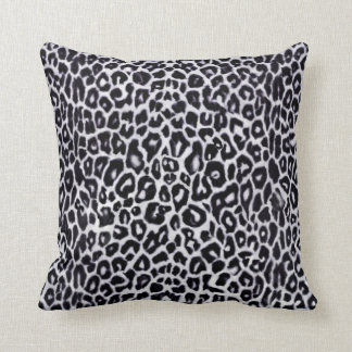 White Snow Leopard Animal Pattern Throw Pillow