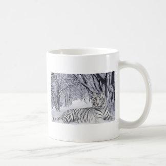 White Snow Tiger Coffee Mug
