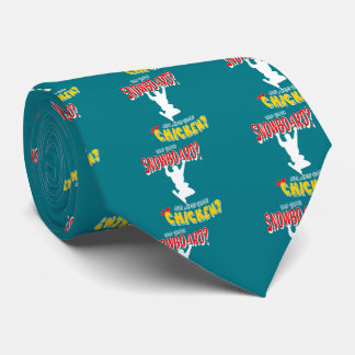 WHITE SNOWBOARD CHICKEN 2 TIE