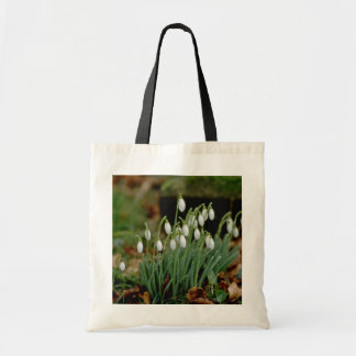 white Snowdrops flowers Tote Bag