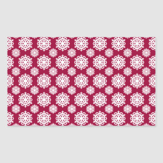 White Snowflake 11 Any color background Stickers