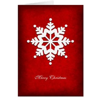White Snowflake Folding Christmas Card