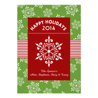 White Snowflake Holiday Greeting Card