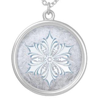 White Snowflake necklace