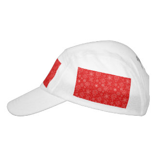 White Snowflakes on Christmas Red Hat