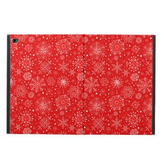 White Snowflakes on Christmas Red Powis iPad Air 2 Case