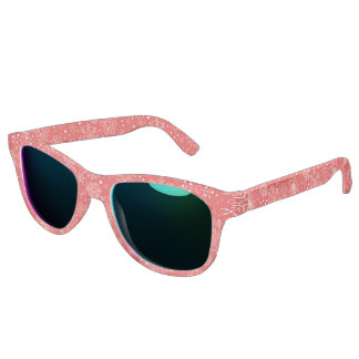White Snowflakes on Christmas Red Sunglasses