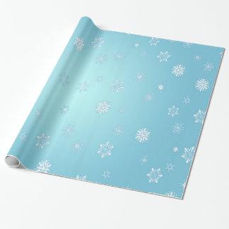 White Snowflakes Wrapping Paper