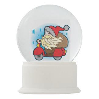 White Snowglobe with Santa Claus