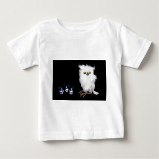 White snowy owl figurine with silver christmas baby T-Shirt