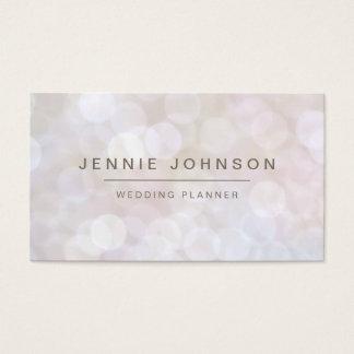 White Soft Glitter Bokeh Business Card