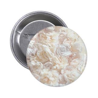 White Soft Rose Petal Fabric Button