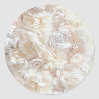 White Soft Rose Petal Fabric Sticker