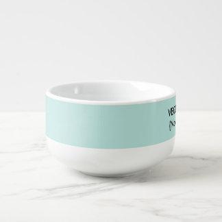 White soup mug for vegetarian and vegan