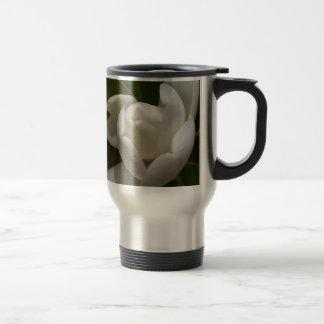 white southern magnolia flower bud travel mug