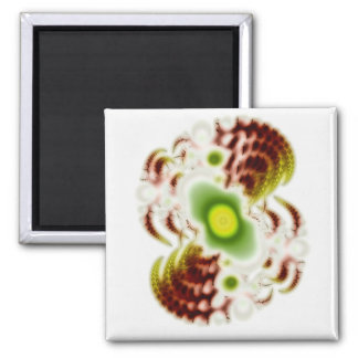 White Space 1 Square Magnet