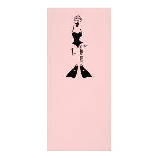 White Space Scuba Diva Customized Rack Card