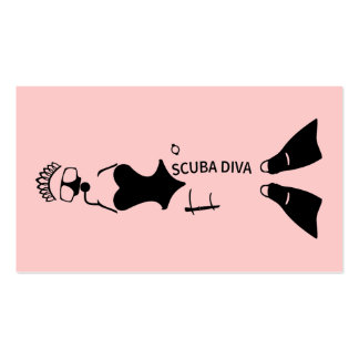 White Space Scuba Diva Pack Of Standard Business Cards