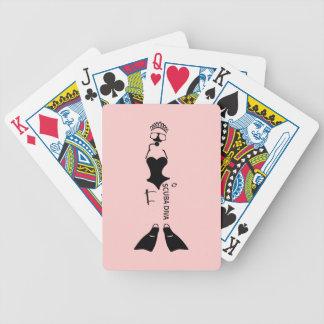 White Space Scuba Diva Poker Deck
